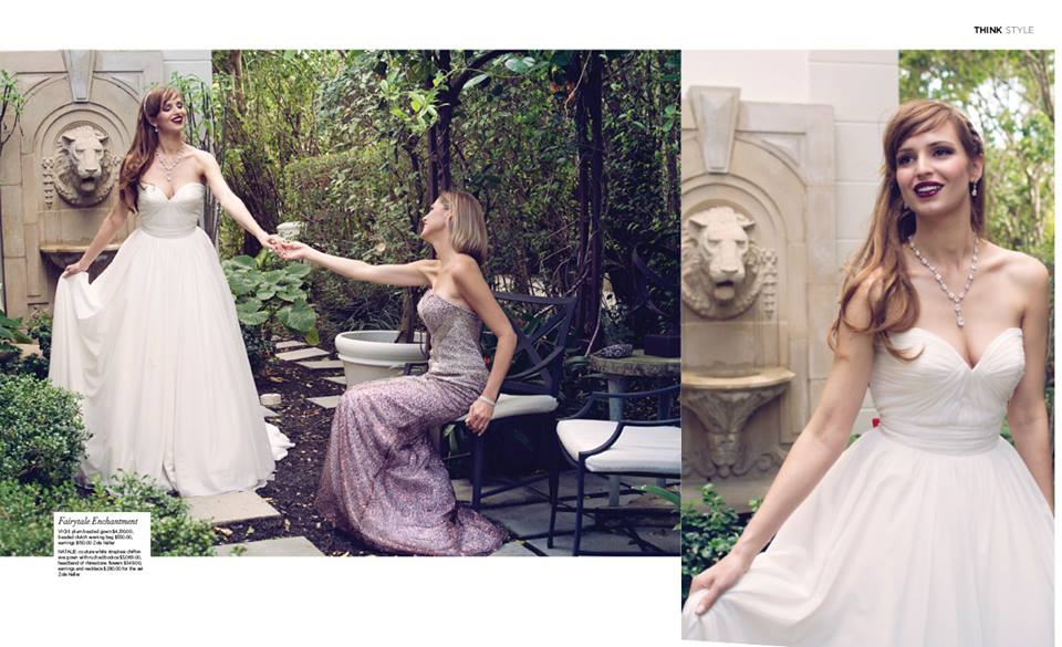Think Magazine Bridal Magnifique Spread