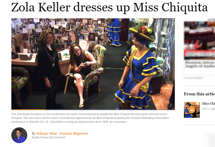 Zola Keller gives Miss Chiquita a makeover!