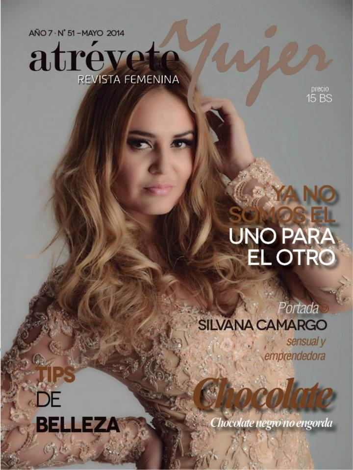 Silavana Camargo featured on the cover of Atrevete Mujer Magazine in Zola Keller gown